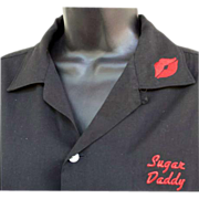 SOLD 1950s Vintage Hilton Bowling Shirt Sugar Daddy Valentine Nebraska Diamond Bar Size Medium
