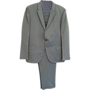 SOLD 1960s Men's Suit Sharkskin Fabric Size Large Jacket with Pants