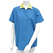Unisex Vintage Bowling Shirt King Louie Bust 42 Unworn