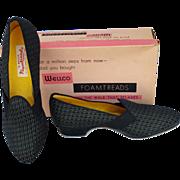 1960s Fancy Unworn Dance Shoe Slippers 6-1/2 Medium NOS