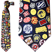 Tall Man Silk Necktie Railroad Routes Logo Neck Tie Train Union Pacific Dozens more