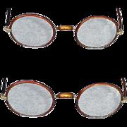 1920s - 1930s Eyeglasses Round Eye Glasses Tortoise Celluloid Great Gatsby Steam Punk