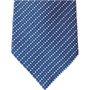 Vintage Ralph Lauren Blue Silk Necktie Unworn Necktie Men's Fashion