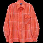 Men's Vintage Sports Shirt 1970s Obermeyer Nylon Wind Jacket Medium