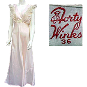 SOLD 1930s Pink Rayon Lacy Nightgown Bust 36 Size Large Wedding Worthy