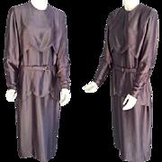 SALE 1920s Silk Charmeuse Dress  Extra Large Opera Mauve Downton Abbey