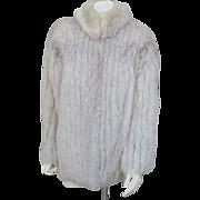 Vintage  Blue Saga Fox Fur Coat Size Medium 8 - 10