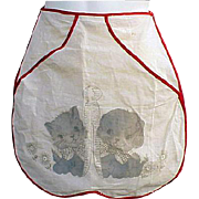 Vintage Apron Clothespin Bag 1930s Never Used Puppy Dog Kitten Clothes Pin