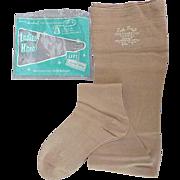 Vintage Cotton Hose Stockings MIP Durene Ruth Barry Size 9