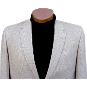 Vintage 1960s Men's Blazer Sports Coat Jacket Size 44 R Tweed