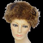 Vintage 1940s Warm Fur Hat Winter Fashion World War II