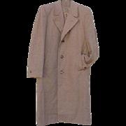 SALE 1950s Vintage Men's  Wool Overcoat Size Large Top Coat Extra Warm