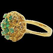 Vintage 18K Gold Emerald Ring