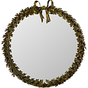 Vintage La Barge Wreath Mirror - Large