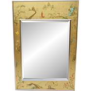 Vintage LaBarge Chinoiserie Mirror - Artist Signed / 1983