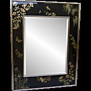 Vintage LaBarge Asian Mirror - Butterlfies & Birds - Artist Signed / 1987
