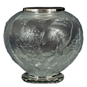 Erte Flowers Among Flowers Urn / Vase - French Crystal - LE 170/250 - 1984-Romain de Tirtoff