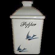 Lovely Bluebird Spice Canister (Jar), PEPPER