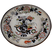 Lovely Circa 1820-40 Soup Plate, Oriental Design, English Pottery