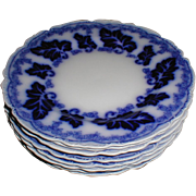 """Lovely Flow Blue 8"""" Plate NORMANDY Johnson Bros. (8 avail)"""