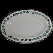 Child's China Set Platter, Green Transferware, Copeland