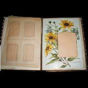 Gorgeous Victorian Leather Photograph Album, 8 Floral Pages