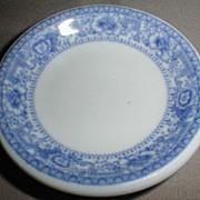 Lovely Restaurant Style Butterpat, Blue Border