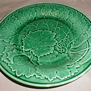 Lovely 19th Century Green Majolica Plate, Wedgwood