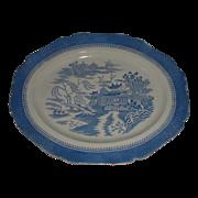 Huge English Blue Mandarin Platter, Unusual