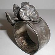 REDUCED Floral Figural Quadruple Plate Napkin Ring, Meridan