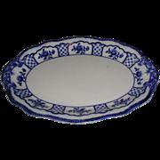 Lovely Flow Blue Platter, MELBOURNE, W. H. Grindley 1900