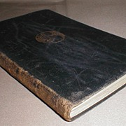 """REDUCED Gilded Leather Bound Book """"Farewell Miss Julie Logan"""" Barrie"""