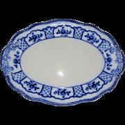 Lovely Large Flow Blue Platter, MELBOURNE, Grindley
