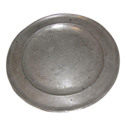 Wonderful Circa 1725 Pewter Charger, John Watts