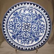 Lovely Dark Blue Floral Transfer Printed Plate, TEUTONIC BWM