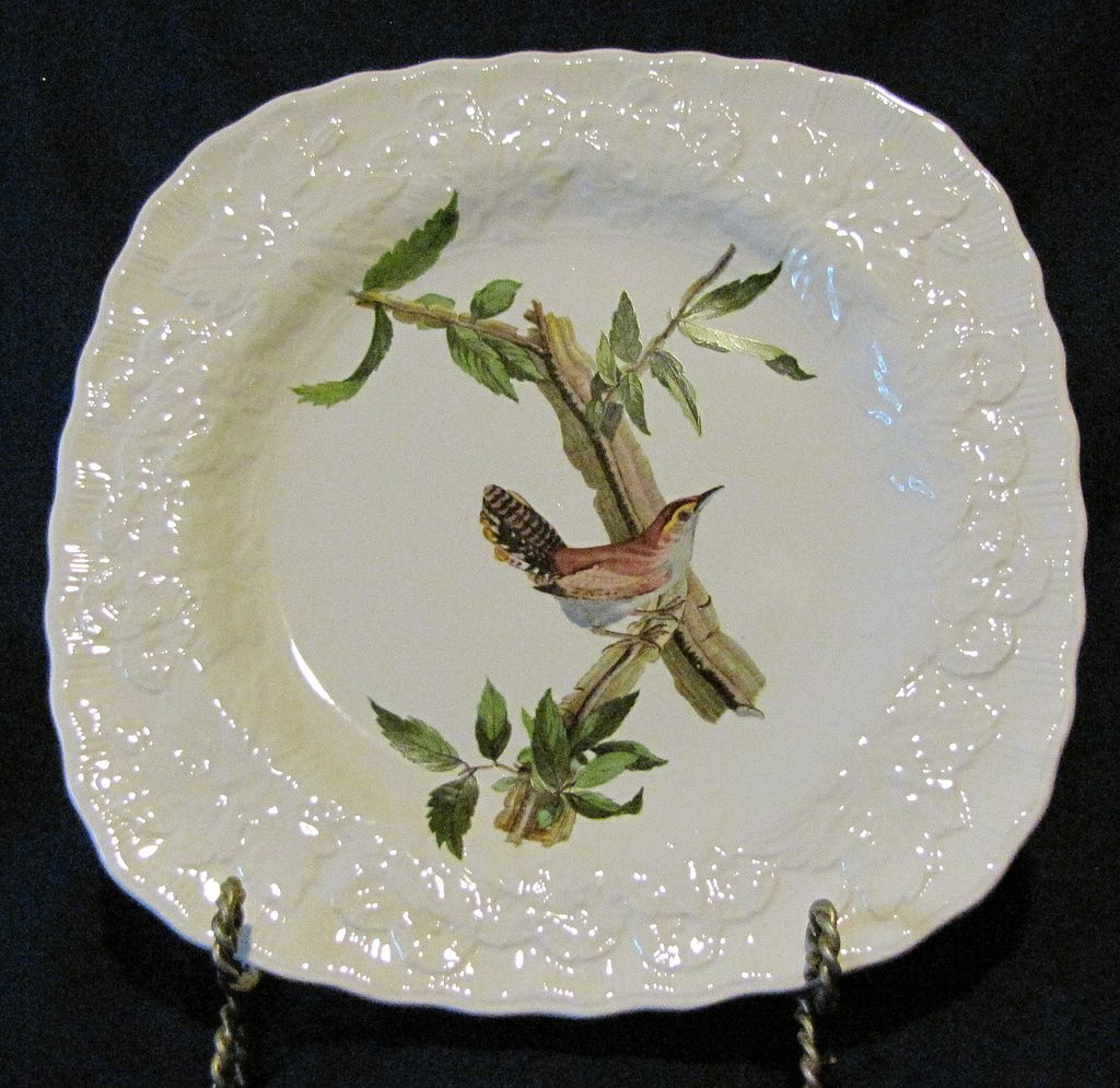 Square Audubon Dessert Plate, BEWICK'S WREN, Alfred Meakin