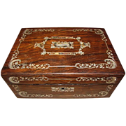 REDUCED Lovely Antique MOP Inlay Writing Box, English