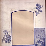 SALE Lovely Blue Printed Page from Victorian Photo Album