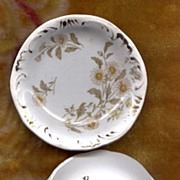 Lovely Transfer Butter Pat with Daisies H. Alcock
