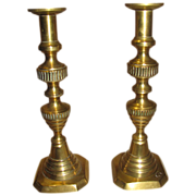 Lovely Pair of Brass Candlesticks, English