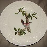"""Lovely Bird Plate, Alfred Meakin, 9"""", Bewick's Wren"""