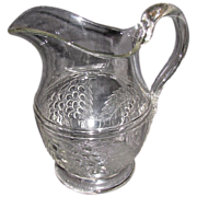 SALE Large Bulbous Water Pitcher, EAPG, McKee, BARBERRY
