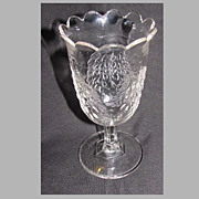 SALE Early American Pressed Glass Spooner, BARBERRY