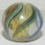 Beautiful Vintage Glass Nebula Marble, Handmade