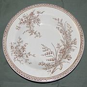 Lovely Brown Transferware Soup Plate, SEVILLE, E.M. & Co. 1871-99