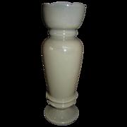 Single Victorian Clambroth Bristol Vase, No Decoration