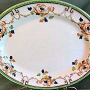 Lovely Enameled Transfer Printed Platter, ALBERTA, Ridgways