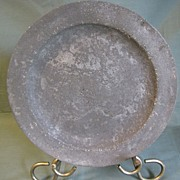 Antique Pewter Plate, British, Unreadable Marks
