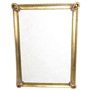 Lovely Brass Photograph Frame, Table Top, Convex Glass
