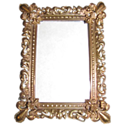 Lovely Stamped Brass Photograph Frame, Table Top